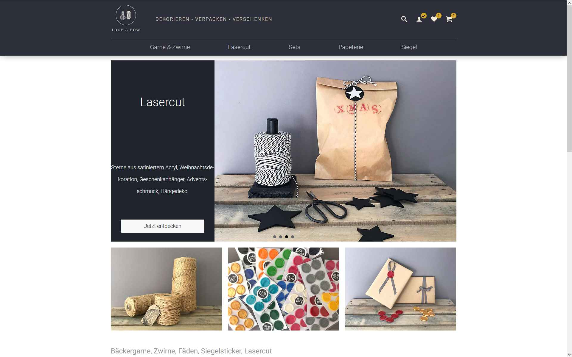 Onlineshop von LOOP & BOW