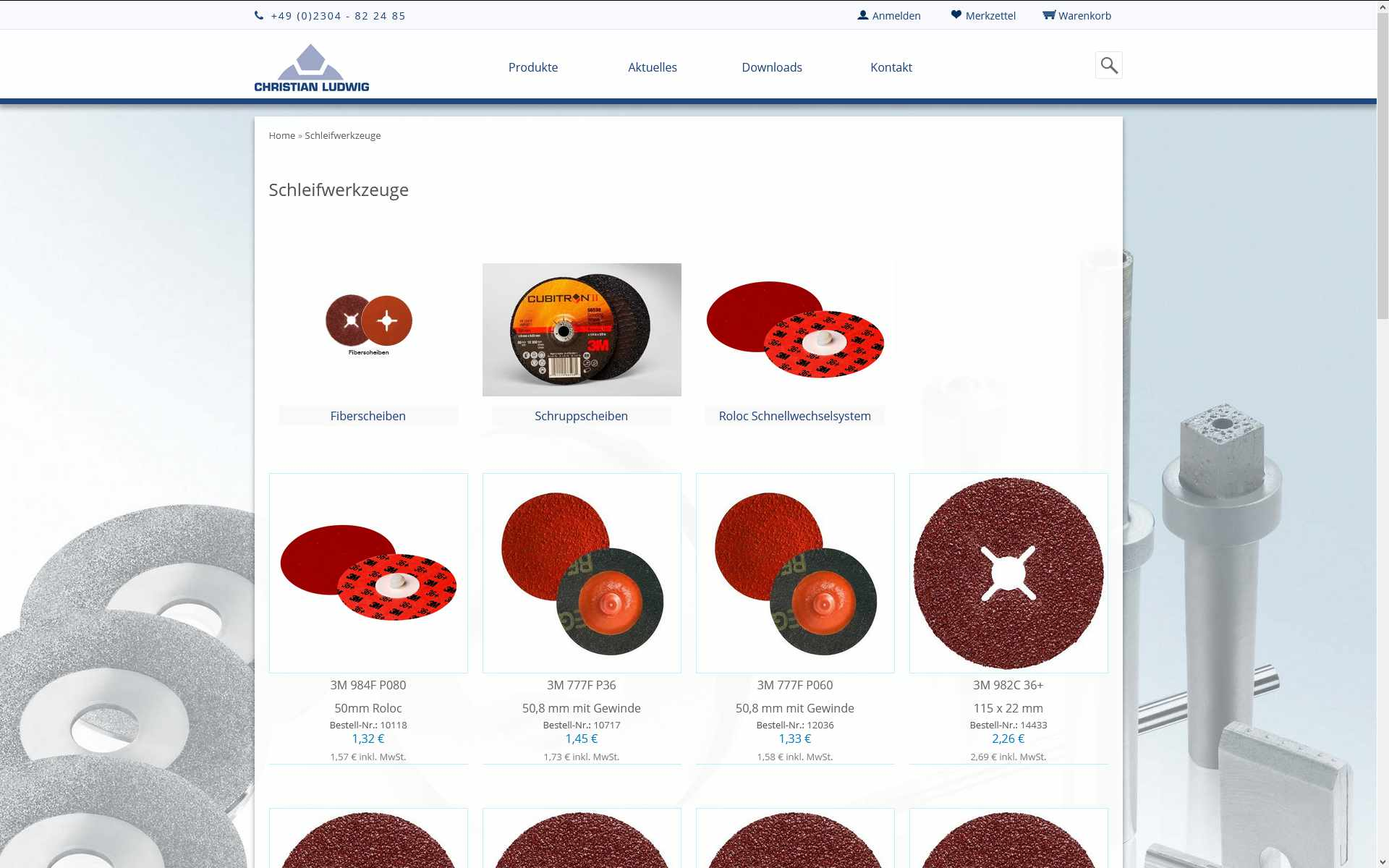 Onlineshop und Website der Christian Ludwig & Co. GmbH